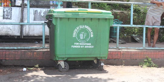 Dustbin Funded by - ANIIDCO