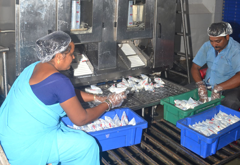 Milk Packing for Distribution